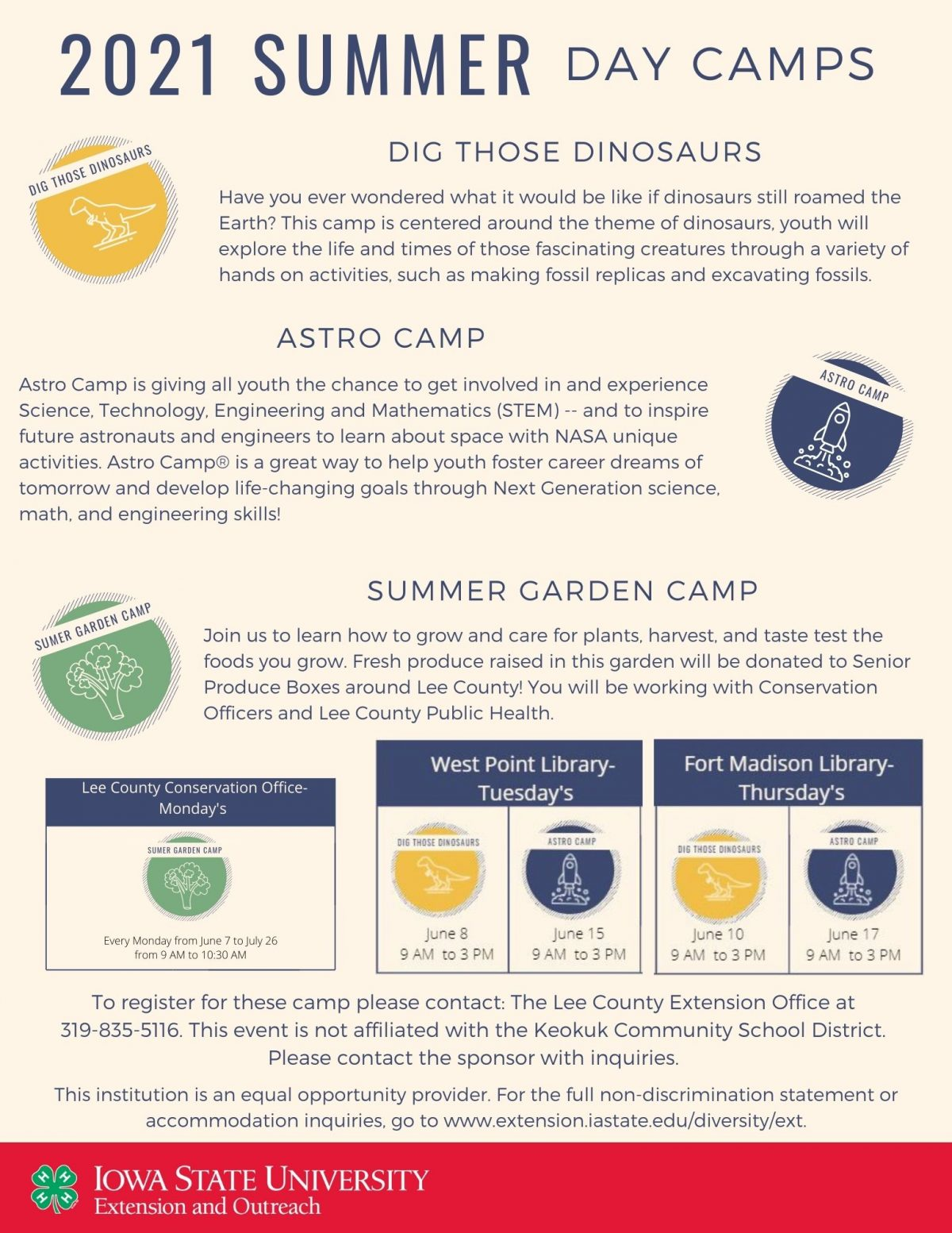 2021 Summer Day Camps